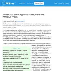 World-Class Home Appliances Now Available At Attractive Prices.