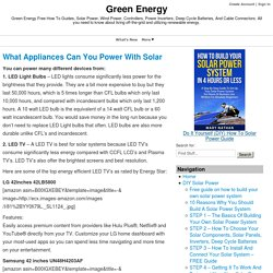 What Appliances Can You Power With Solar