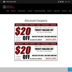 Home Appliances Repair Services Discount Coupons
