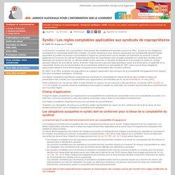 Syndic / Les règles comptables applicables aux syndicats de copropriétaires