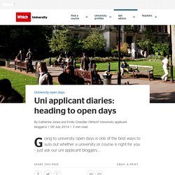 Uni applicant diaries: heading to open days