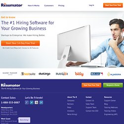 The Resumator instantly improves how you collect resumes and adv