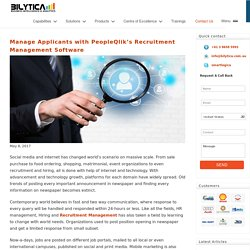 Manage Applicants with PeopleQlik's Recruitment Management Software