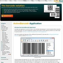 Barcode software OCX ActiveX