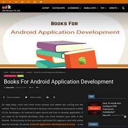 Books For Android Application Development - AditMicrosys