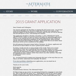 2015 Grant Application