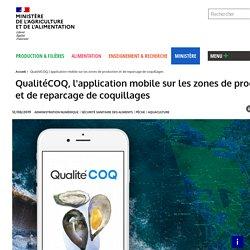 MAA 12/08/19 QualitéCOQ, l'application mobile sur les zones de production et de reparcage de coquillages