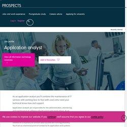 Application analyst job profile