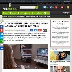 Google App Maker : créez votre application Android facilement et sans coder