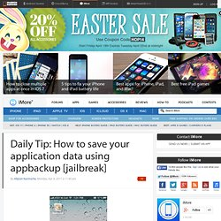 How to save your application data using appbackup [jailbreak]