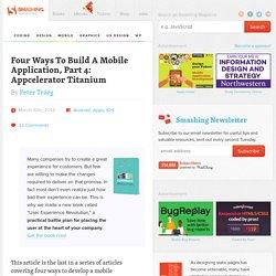 Four Ways To Build A Mobile Application, Part 4: Appcelerator Titanium