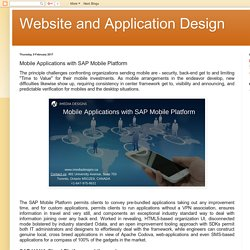 Website and Application Design: Mobile Applications with SAP Mobile Platform