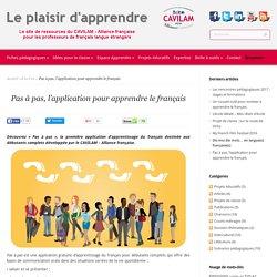 Pas à pas, l'application pour apprendre le français