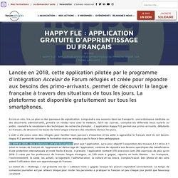 Happy FLE : Application gratuite d'apprentissage du français dédiée aux primo-arrivants