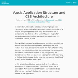 Vue.js Application Structure and CSS Architecture - Markus Oberlehner