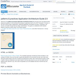 patterns & practices: Application Architecture Guide 2.0 (Th