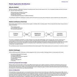 Mobile Application Architecture Whitepaper
