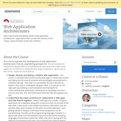 Web Application Architectures - University of New Mexico