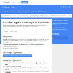 Installer l'application GoogleAuthenticator - Android - Aide Compte Google
