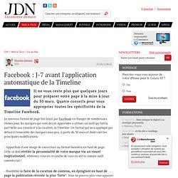 Facebook : J-7 avant l'application automatique de la Timeline