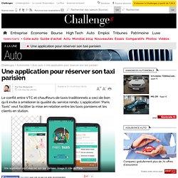 Une application pour réserver son taxi parisien