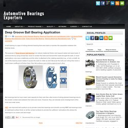 Deep Groove Ball Bearing Application ~ Automotive Bearings Exporters