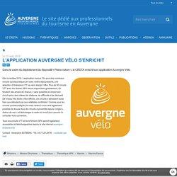 L'application Auvergne Vélo s'enrichit