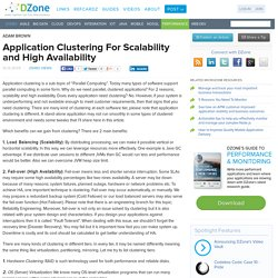 Application Clustering For Scalability and High Availability