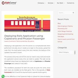 Deploying Rails Application using Capistrano and Phusion Passenger