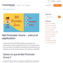 Net Promoter Score - calcul et application - CheckMarket