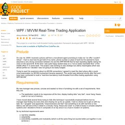 WPF / MVVM Real-Time Trading Application