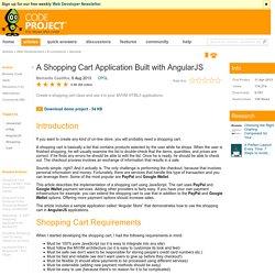 A Shopping Cart Application Built with AngularJS