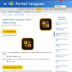 Application coup de coeur : Adobe Voice