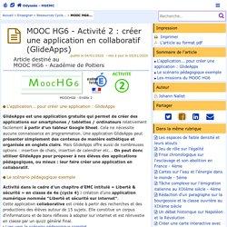 MOOC HG6 - Activité 2 : créer une application en collaboratif (GlideApps) - Odyssée : Histoire Géographie EMC