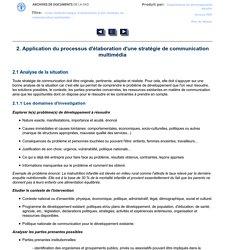 2. Application du processus d'élaboration d'une stratégie de communication multimédia