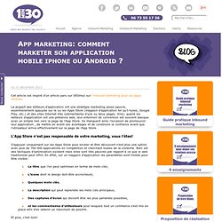 App marketing: comment marketer son application mobile iphone ou Android