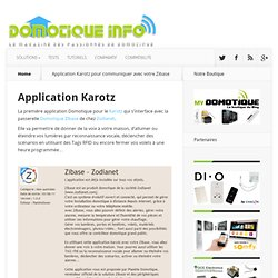 Application Karotz -Zibase