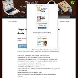 Téléphone : application Prixing, comparateur de prix