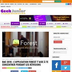Bac 2016 : L'application Forest t'aide à te concentrer pendant les révisions