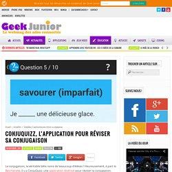 ConjuQuizz, l'application pour réviser sa conjugaison
