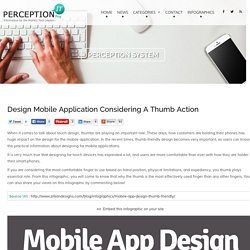 Design Mobile Application Considering A Thumb Action - Infographic