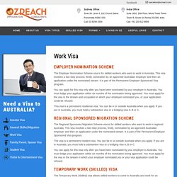 Australian work visa, Australian visa application - Ozreach Consultants