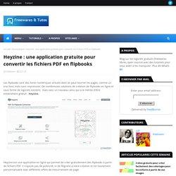 une application gratuite pour convertir les fichers PDF en flipbooks