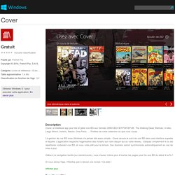 Application Cover pour Windows dans Windows Store