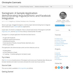 Sociogram: A Sample Application demonstrating AngularJS/Ionic and Facebook Integration