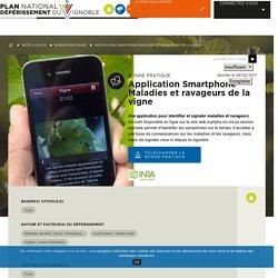 INRA 28/02/17 Application Smartphone Maladies et ravageurs de la vigne