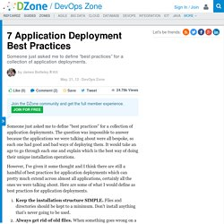 7 Application Deployment Best Practices - DZone DevOps