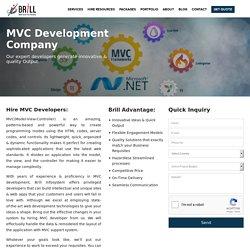 MVC web application development