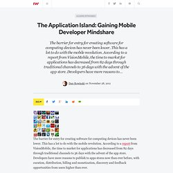 The Application Island: Gaining Mobile Developer Mindshare