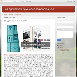 ios application developer companies usa: IOS App Developers Company In USA